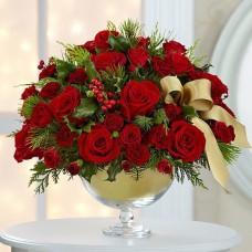 Cam Vazoda Kırmızı Güller