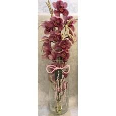 Cam Vazoda Orkide Aranjman