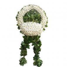 Beyaz Gerberalı Cenaze Çelengi