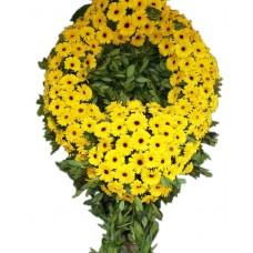 Sarı Gerberalı Cenaze Çelengi