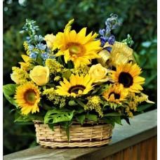 Ay Çiçeği Sepet Aranjman
