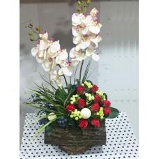 Kırmızı Gül ve Orkide Aranjman
